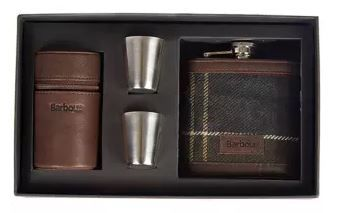 Barbour Tartan Hip Flask  and Cups- MAC0152TN11