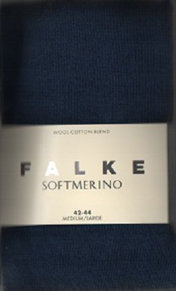 Merino Wool Blend tights by Falke - Mid blue  48425/6504