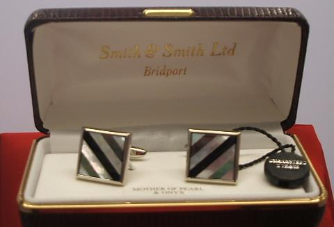 Mother of Pearl & Onyx Square Cufflinks