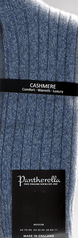 Pantherella Cashmere Socks - Waddington - 5750 - Denim
